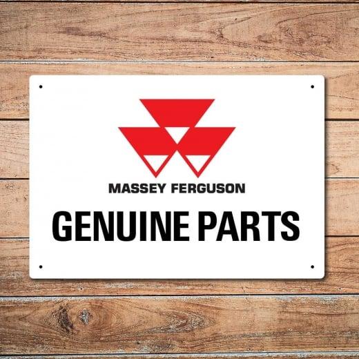 Wall Chimp Massey Ferguson Genuine Parts Metal Sign