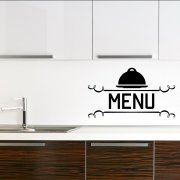 Menu Kitchen Wall Sticker Quote