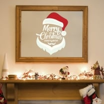 Merry Christmas Santa Hat Wall & Window Sticker