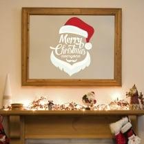 Merry Christmas Santa Hat Wall & Window Sticker