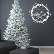 Merry Christmas Wreath Wall & Window Sticker
