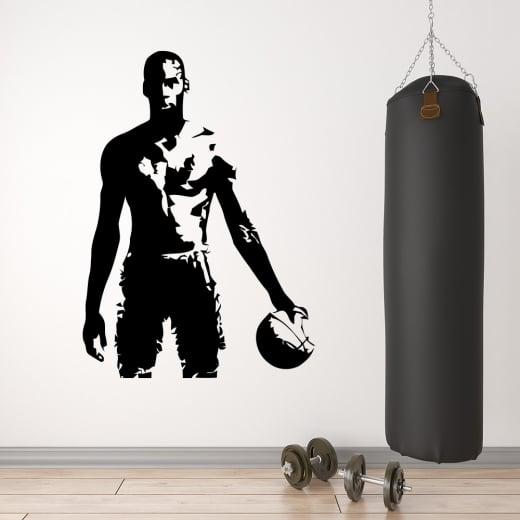 Wall Chimp Michael Jordan Basketball Silhouette Wall Sticker