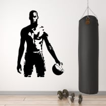 Michael Jordan Basketball Silhouette Wall Sticker