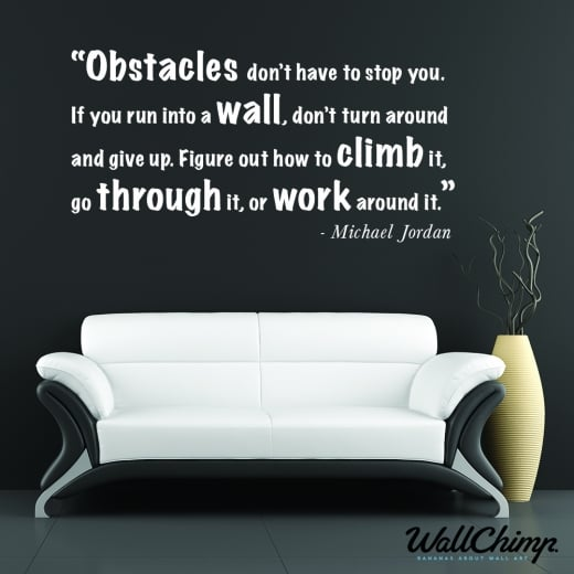 Wall Chimp Michael Jordan Motivational Sports Wall Sticker Quote