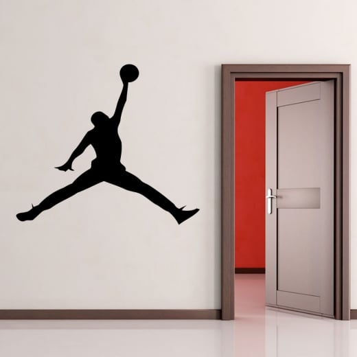 Wall Chimp Michael Jordan Silhouette Wall Sticker