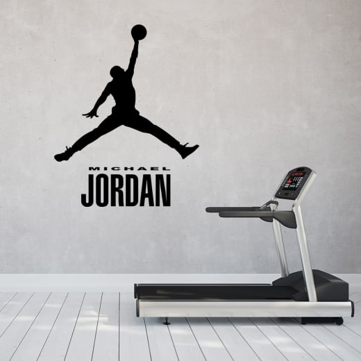 Wall Chimp Michael Jordan Silhouette Wall Sticker