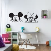 Mickey & Minnie Mouse Wall Sticker