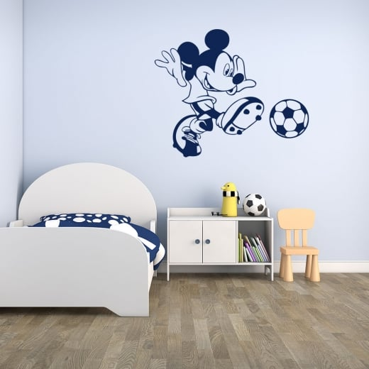 Wall Chimp Mickey Mouse Football Wall Sticker