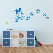 Mickey Mouse Football Wall Sticker