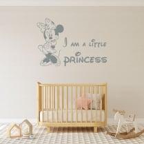 Minnie Mouse I Am A Little Princess Wall Sticker