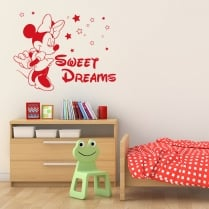 Minnie Mouse Sweat Dreams Wall Sticker