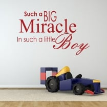 Miracle Baby Boy Wall Sticker Quote