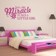 Miracle Little Girl Wall Sticker Quote
