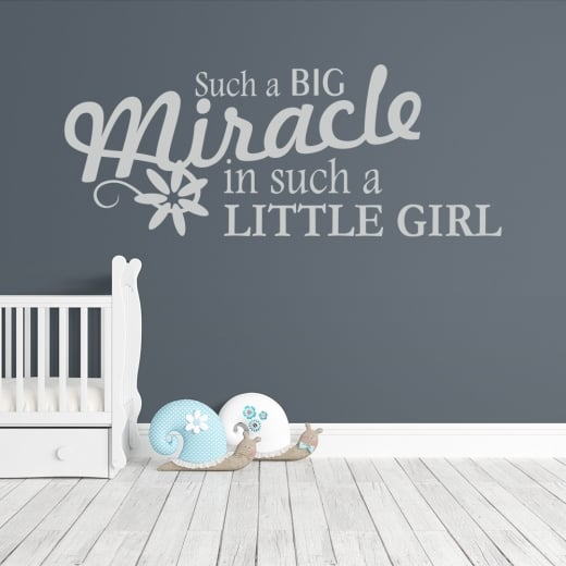 Wall Chimp Miracle Little Girl Wall Sticker Quote