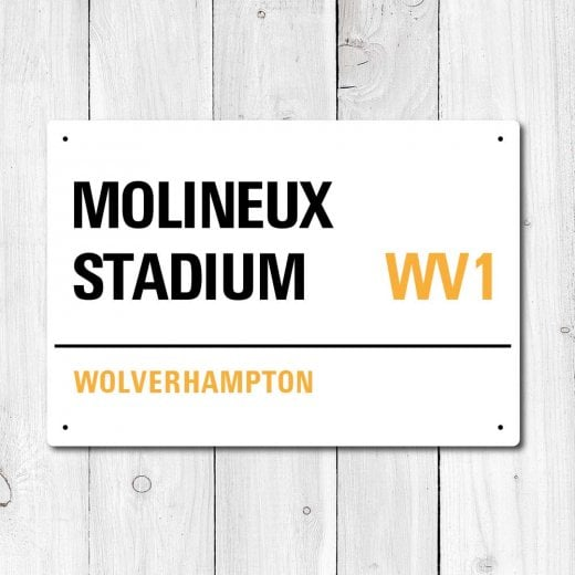 Wall Chimp Molineux Stadium, Wolverhampton Metal Sign