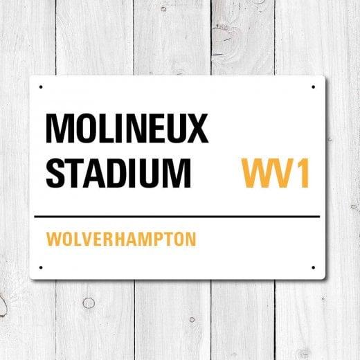 Wall Chimp Molineux Stadium, Wolverhampton Metal Sign
