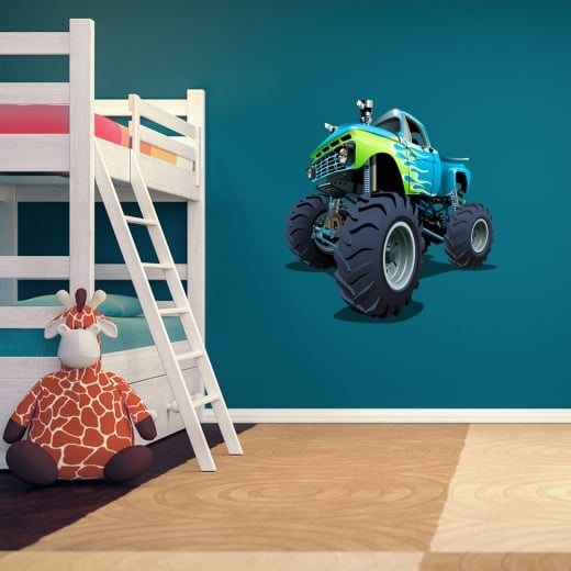 Wall Chimp Monster Truck Printed Wall Sticker