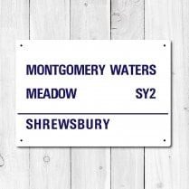 Montgomery Waters Meadow Metal Sign