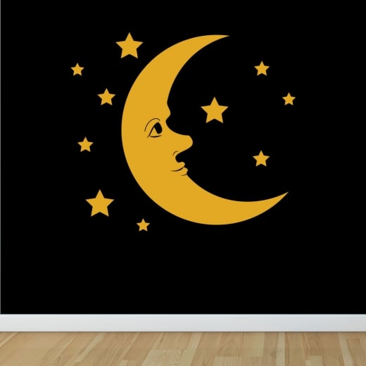 Wall Chimp Moon Wall Sticker