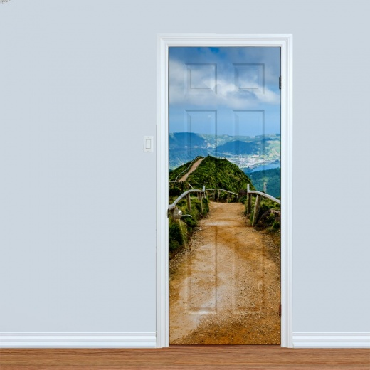 Wall Chimp Mountain Range Footpath Printed Door