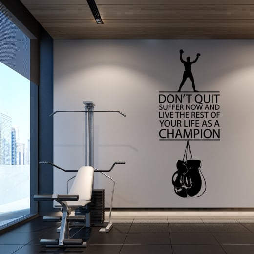 Wall Chimp Muhammad Ali Motivational Sports Wall Sticker Quote