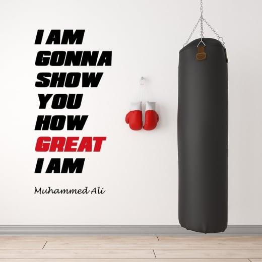 Wall Chimp Muhammad Ali Motivational Sports Wall Sticker Quote