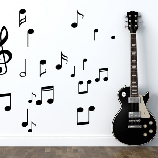 Wall Chimp Music Notes Wall Sticker Pack