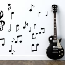 Music Notes Wall Sticker Pack