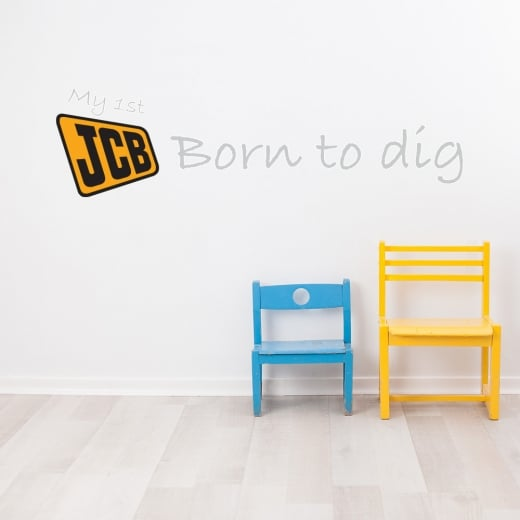 Wall Chimp My 1st JCB Born To Dig Printed Wall Sticker