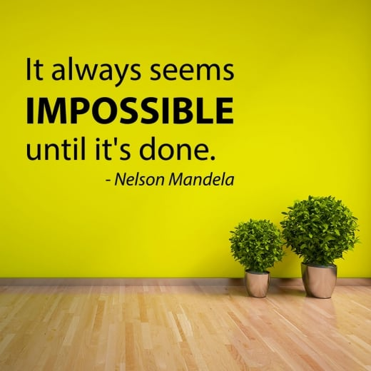 Wall Chimp Nelson Mandela Motivational Quotation Wall Sticker