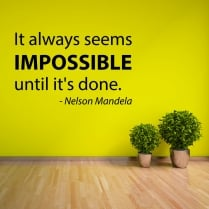 Nelson Mandela Motivational Quotation Wall Sticker