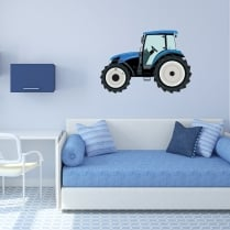 New Holland Blue Tractor Printed Wall Sticker