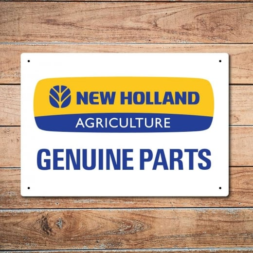Wall Chimp New Holland Genuine Parts Metal Sign