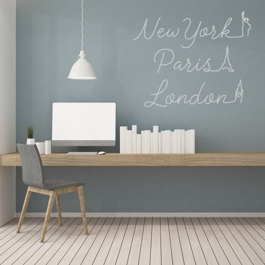 Wall Chimp New York, Paris, London Wall Sticker