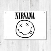 Nirvana Metal Sign