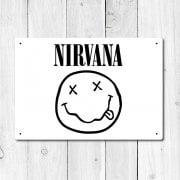 Nirvana Metal Sign