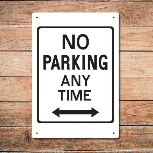 Wall Chimp No Parking Metal Sign