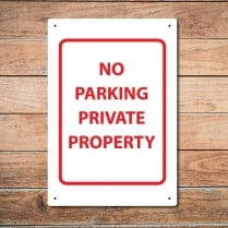 No Parking Metal Sign
