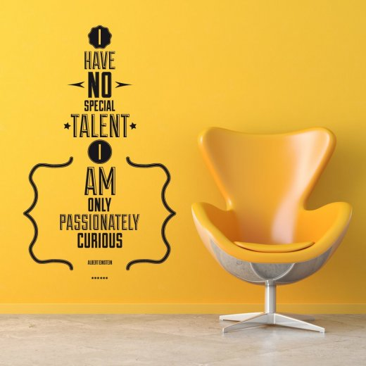 Wall Chimp No Special Talent Wall Sticker Quote