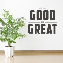 Not Just Good Food Wall Sticker