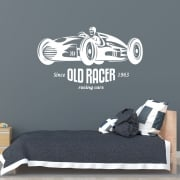 Old Racer Wall Sticker