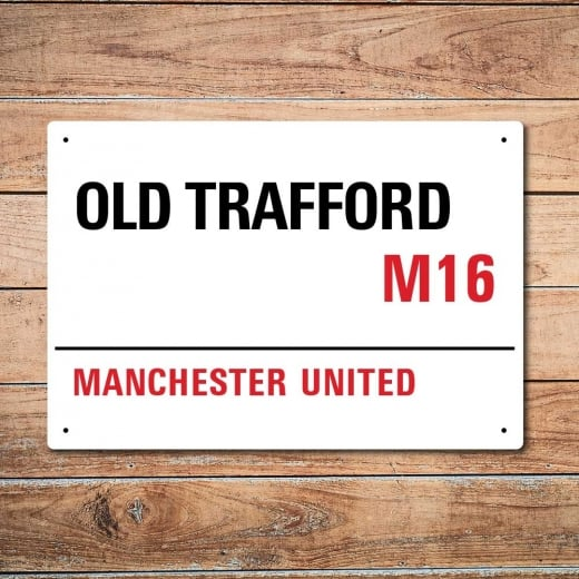 Wall Chimp Old Trafford, Manchester United Metal Sign