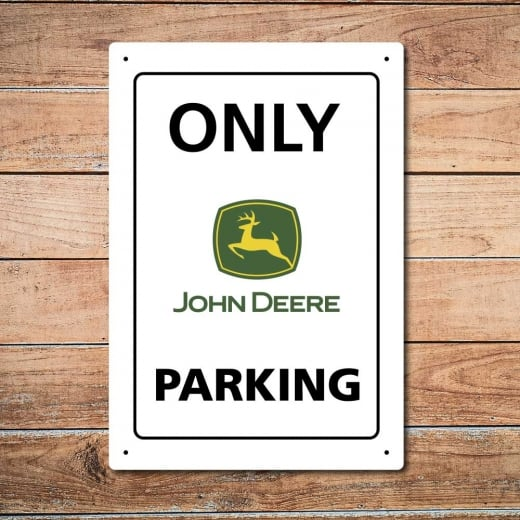 Wall Chimp Only John Deere Parking Metal Sign