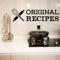 Original Recipes Kitchen Wall Sticker Quote