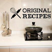 Original Recipes Kitchen Wall Sticker Quote