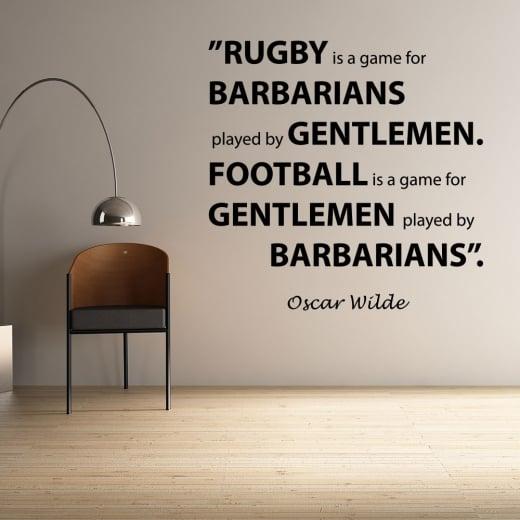 Wall Chimp Oscar Wilde Football Quote Wall Sticker