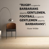 Oscar Wilde Football Quote Wall Sticker