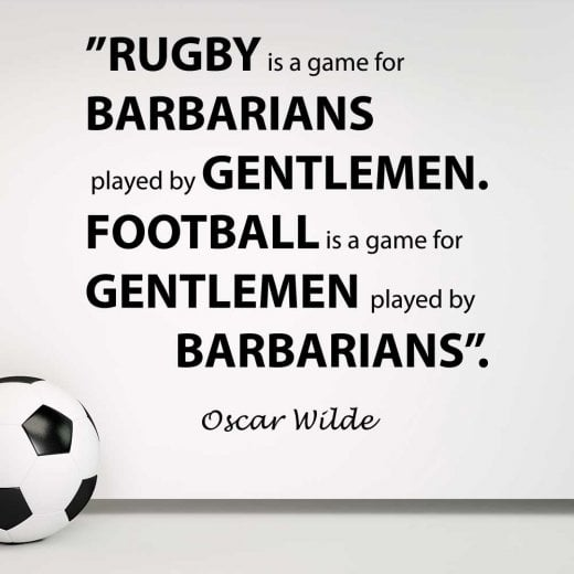 Wall Chimp Oscar Wilde Football Quote Wall Sticker
