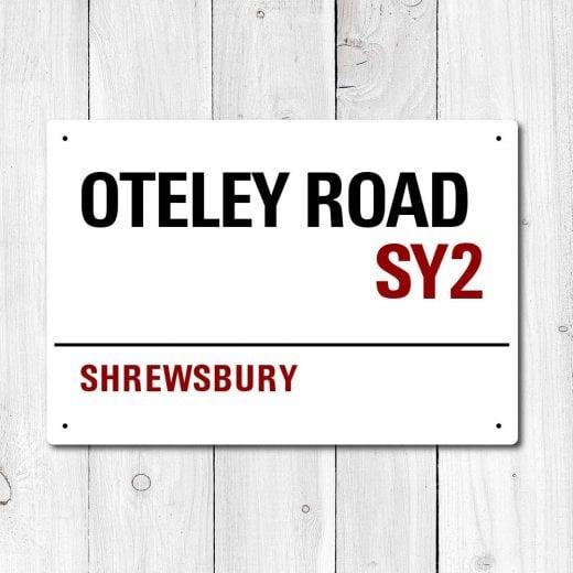 Wall Chimp Oteley Road, Shrewsbury Metal Sign
