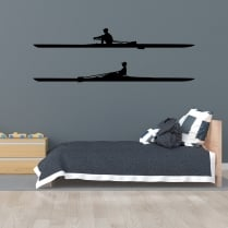 Pair Of Rowers Wall Sticker